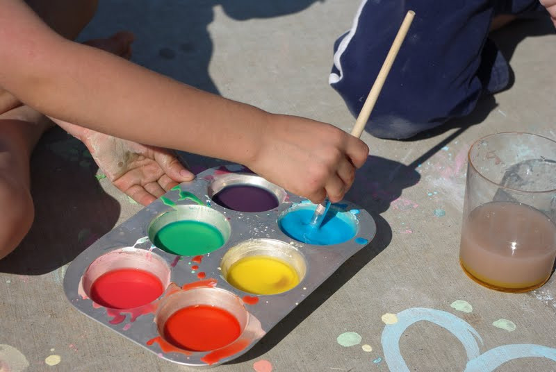 Best ideas about DIY Sidewalk Chalk Paint . Save or Pin Sidewalk Chalk Paint Happiness is Homemade Now.