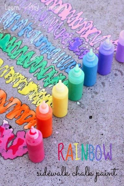 Best ideas about DIY Sidewalk Chalk Paint . Save or Pin Rainbow Sidewalk Chalk Paint Recipe Learn Play Imagine Now.