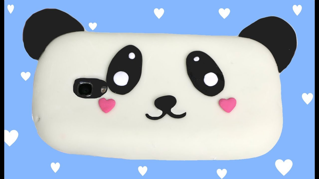 Best ideas about DIY Silicone Phone Case . Save or Pin How to make a silicone phone case Panda kawaii Now.