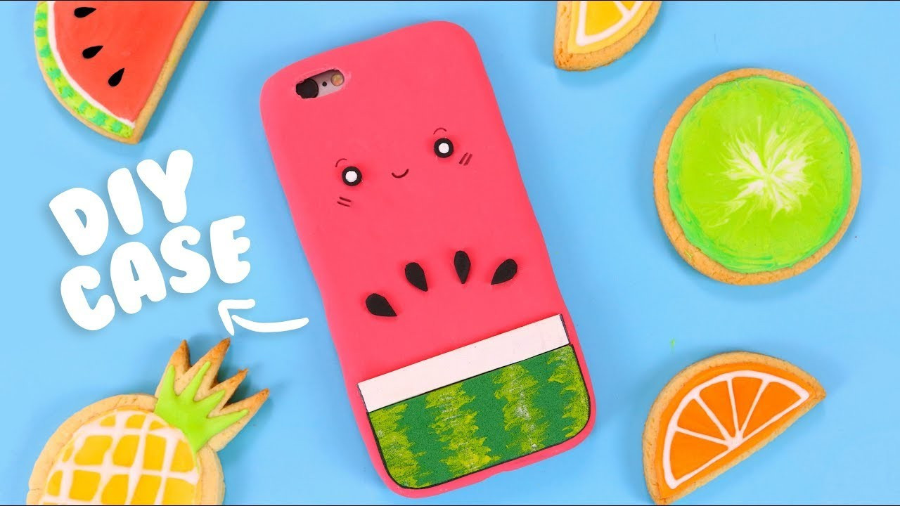 Best ideas about DIY Silicone Phone Case . Save or Pin DIY SILICONE PHONE CASE Cute Watermelon Phone Case Tutorial Now.