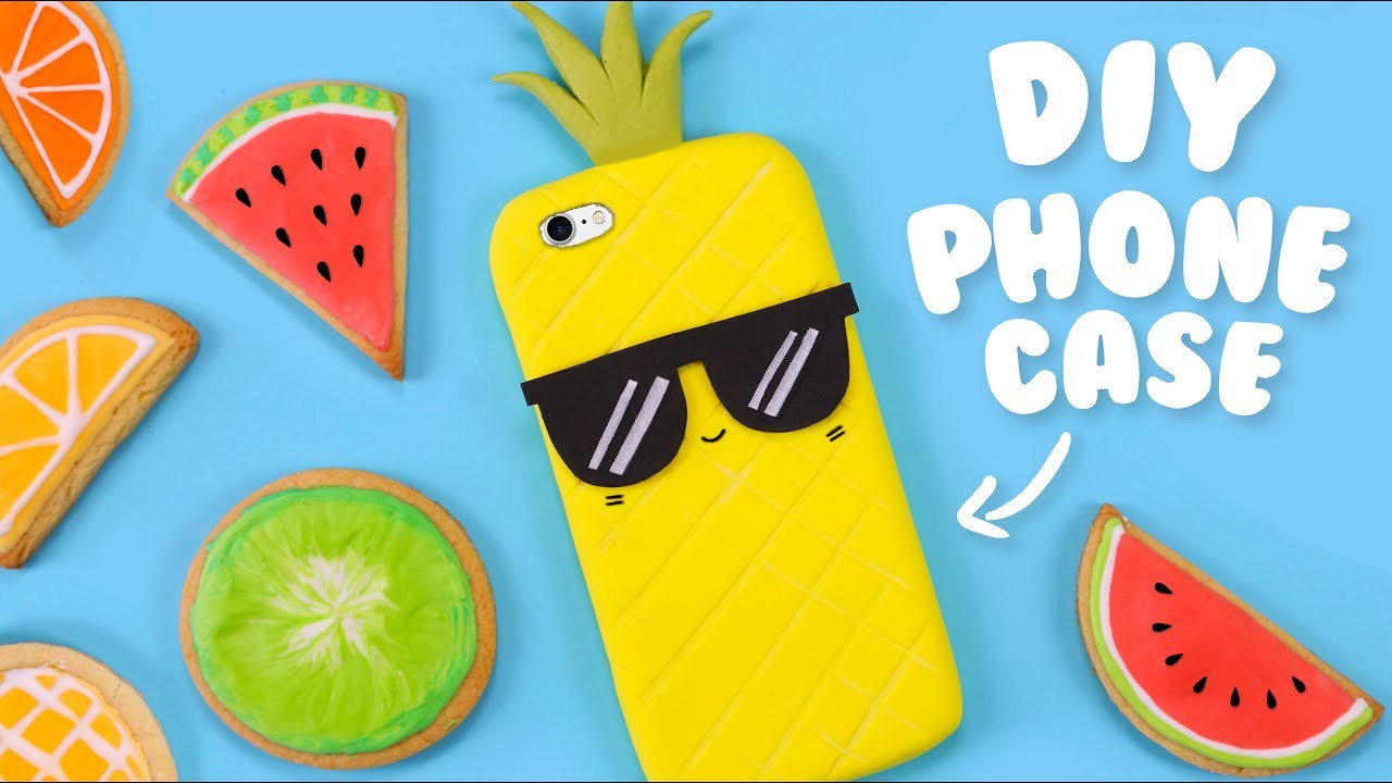 Best ideas about DIY Silicone Phone Case . Save or Pin DIY 2 INGREDIENTS PHONE CASE How to make a Pineapple Now.