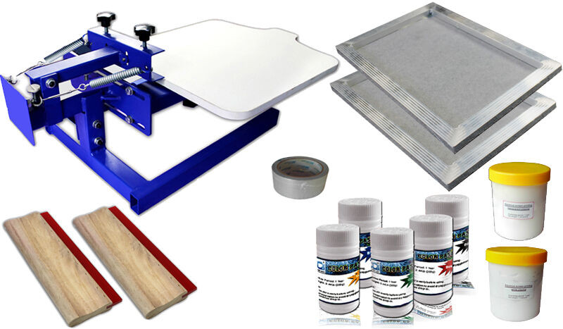Best ideas about DIY Silk Screening Kit . Save or Pin 1 1 Color Silk Screening Screen Printing Removable Pallet Now.