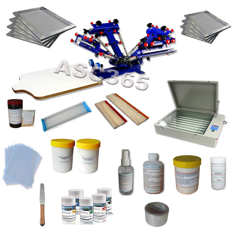 Best ideas about DIY Silk Screening Kit . Save or Pin 4 Color Silk Screen Printing Kit Press Printing Machine Now.