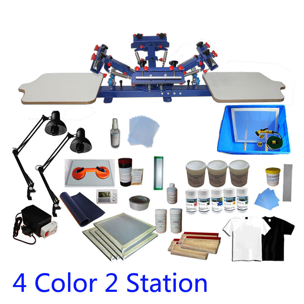 Best ideas about DIY Silk Screening Kit . Save or Pin 4 Color 2 Station Screen Printing Press Kit Machine Silk Now.