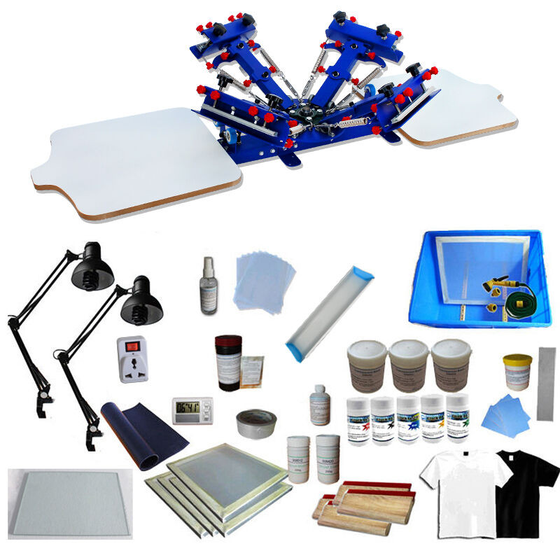 Best ideas about DIY Silk Screening Kit . Save or Pin 4 Color Screen Printing Press Kit Machine 2 Station Silk Now.