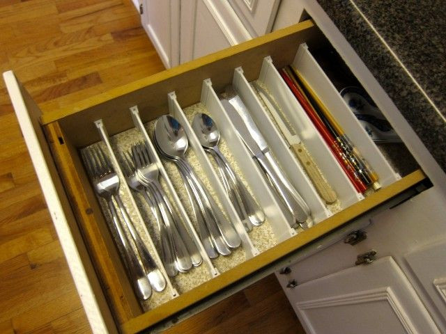 Best ideas about DIY Silverware Drawer Organizer . Save or Pin Narrow Drawer Silverware organizer Flatware sorter for Now.