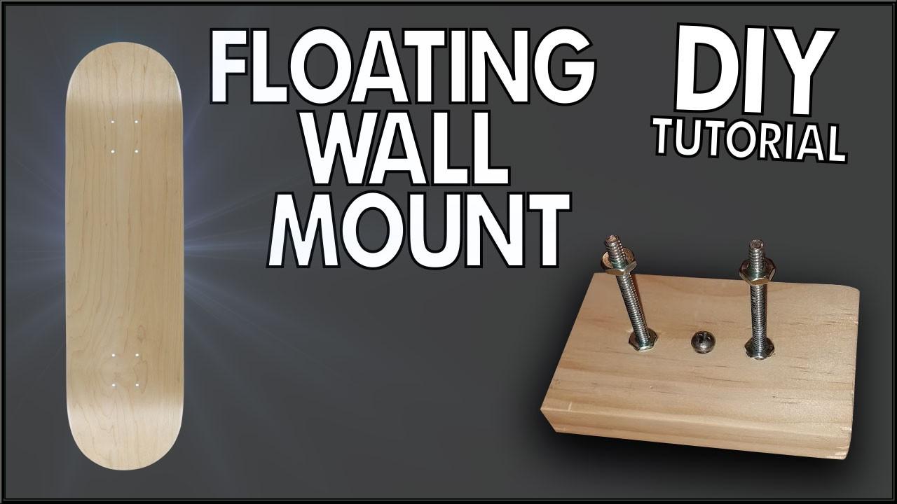 Best ideas about DIY Skateboard Wall Mount . Save or Pin Floating Skateboard Wall Mount DIY Tutorial Now.