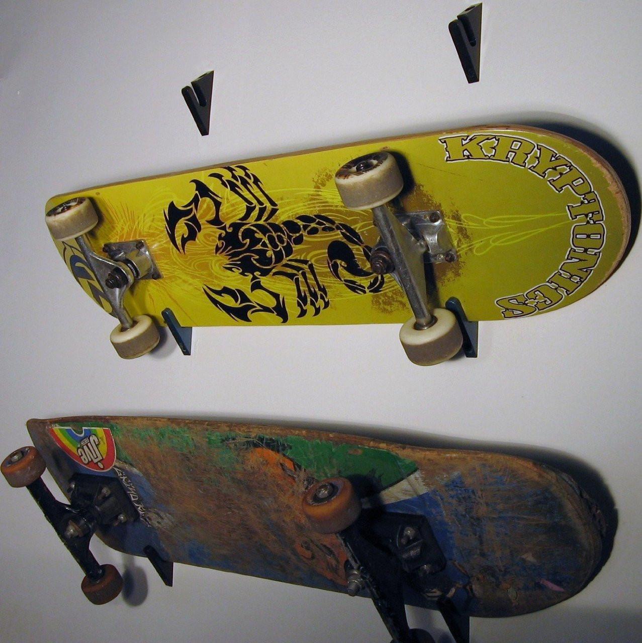 Best ideas about DIY Skateboard Wall Mount . Save or Pin Skateboard Wall Rack Skateboard Holder Now.