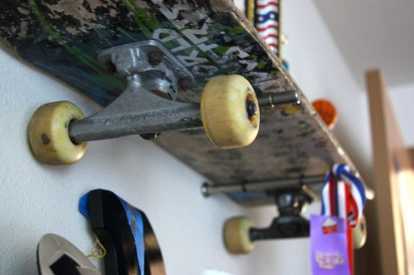 Best ideas about DIY Skateboard Wall Mount . Save or Pin Brook Wilhelmsen crafts a shelving system from skateboards Now.