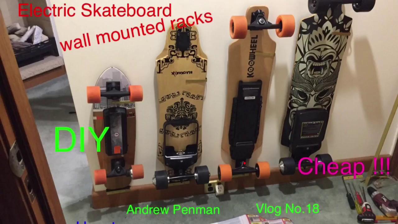 Best ideas about DIY Skateboard Wall Mount . Save or Pin Electric Skateboard wall mounted DIY rack Andrew Penman Now.