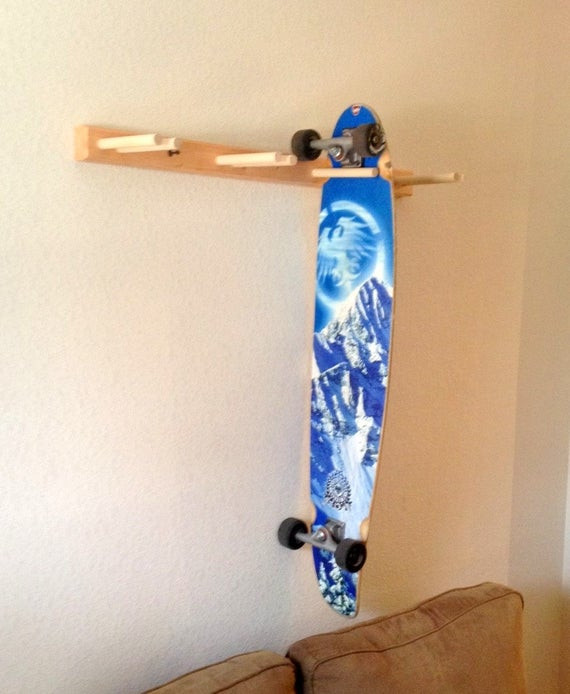 Best ideas about DIY Skateboard Wall Mount . Save or Pin Items similar to Vertical Longboard Skateboard Wall Rack Now.