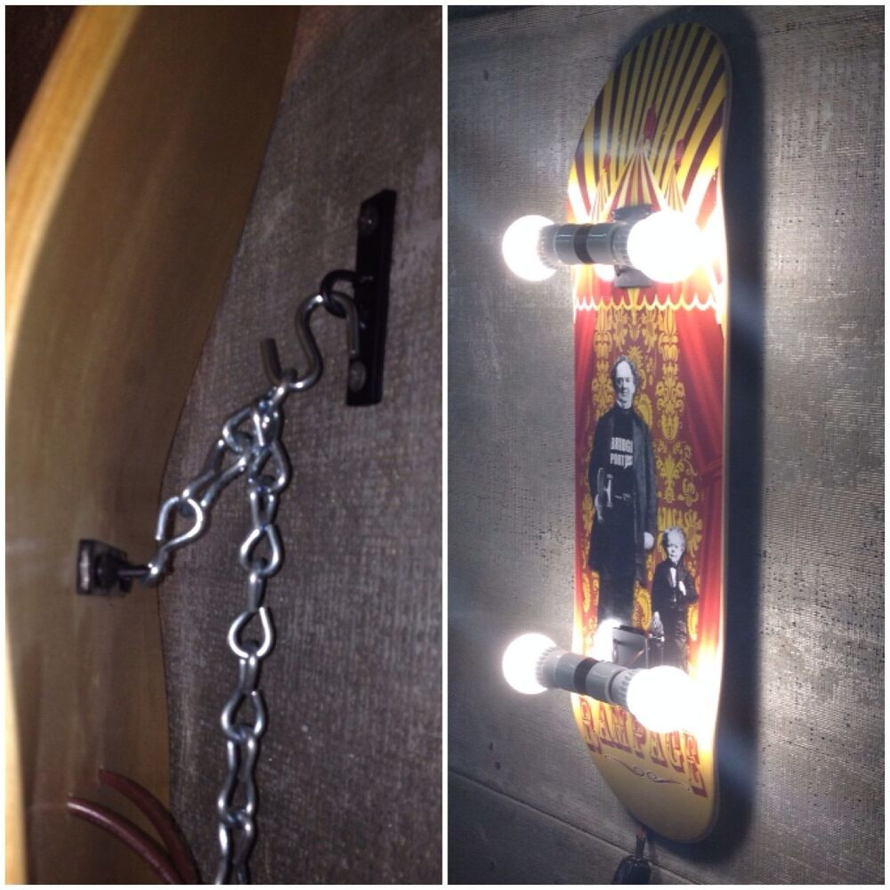 Best ideas about DIY Skateboard Wall Mount . Save or Pin Skateboard Deck Display Wall Mount or Ceiling Hanger Now.