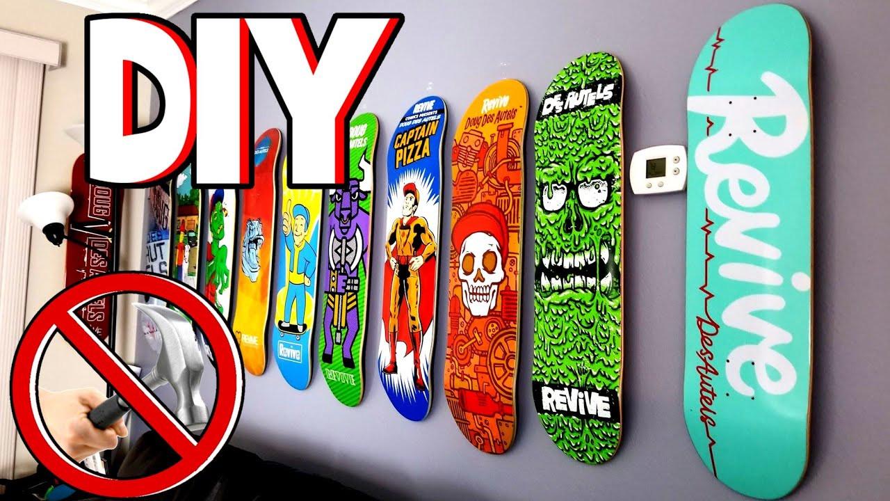 Best ideas about DIY Skateboard Wall Mount . Save or Pin DIY How To Wall Mount A Skateboard Now.