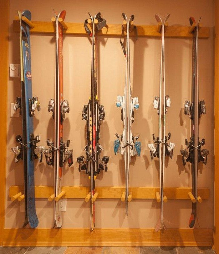 Best ideas about DIY Ski Rack . Save or Pin Build a custom sports equipment storage Now.