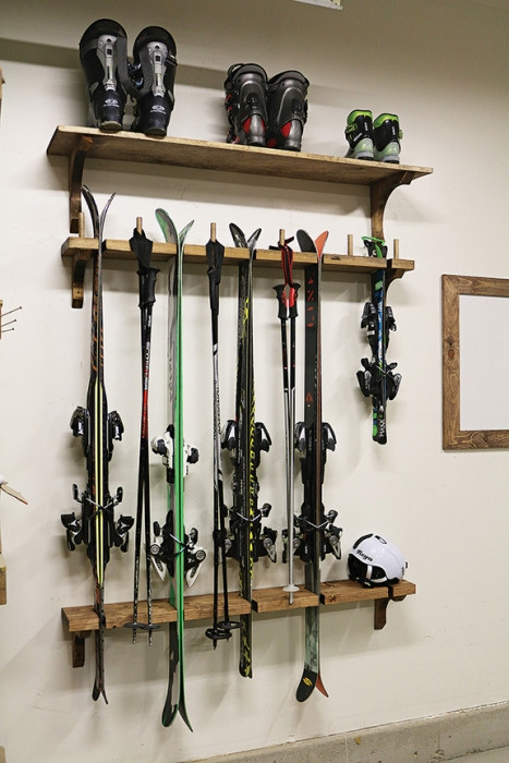 Best ideas about DIY Ski Rack . Save or Pin Rack Em Up Now.