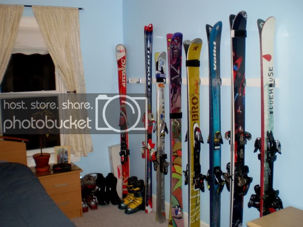 Best ideas about DIY Ski Rack . Save or Pin DIY Ski holder rack $20CHF d easy Now.