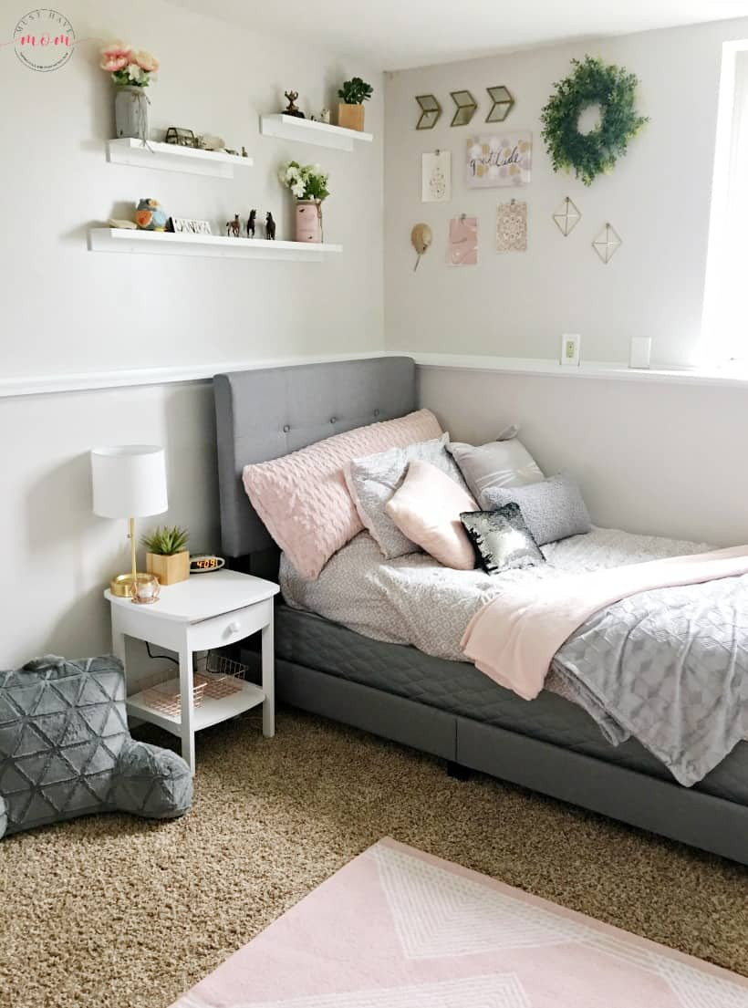 Best ideas about DIY Small Bedroom Makeover . Save or Pin How To DIY a Blush and Gray Girls Bedroom Makeover Must Now.