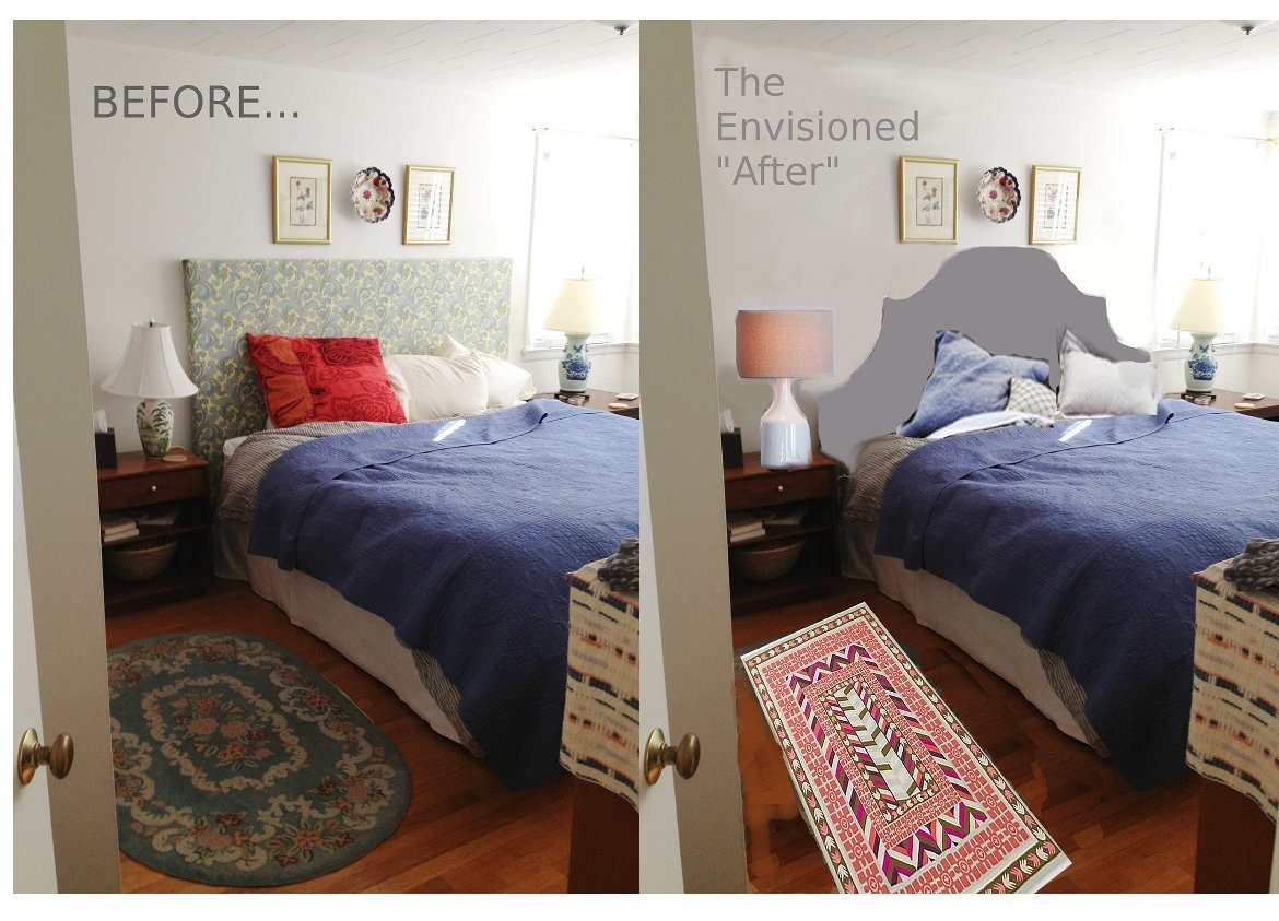 Best ideas about DIY Small Bedroom Makeover . Save or Pin Tiptoethrough Before and After DIY Headboard Makeover Now.