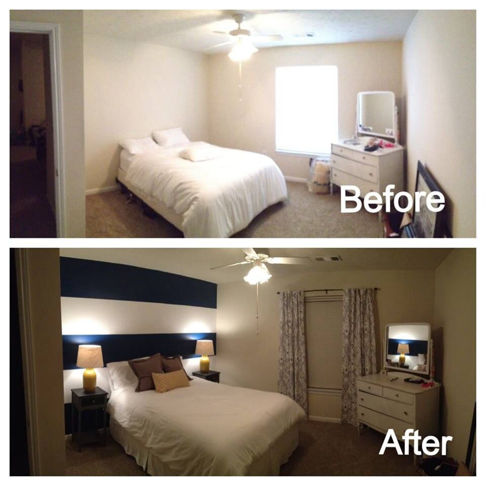 Best ideas about DIY Small Bedroom Makeover . Save or Pin DIY bedroom makeover Before after Pinterest Now.