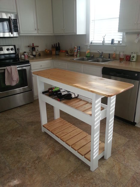 Best ideas about DIY Small Kitchen Island . Save or Pin KITCHEN ISLAND WINE RACK Now.