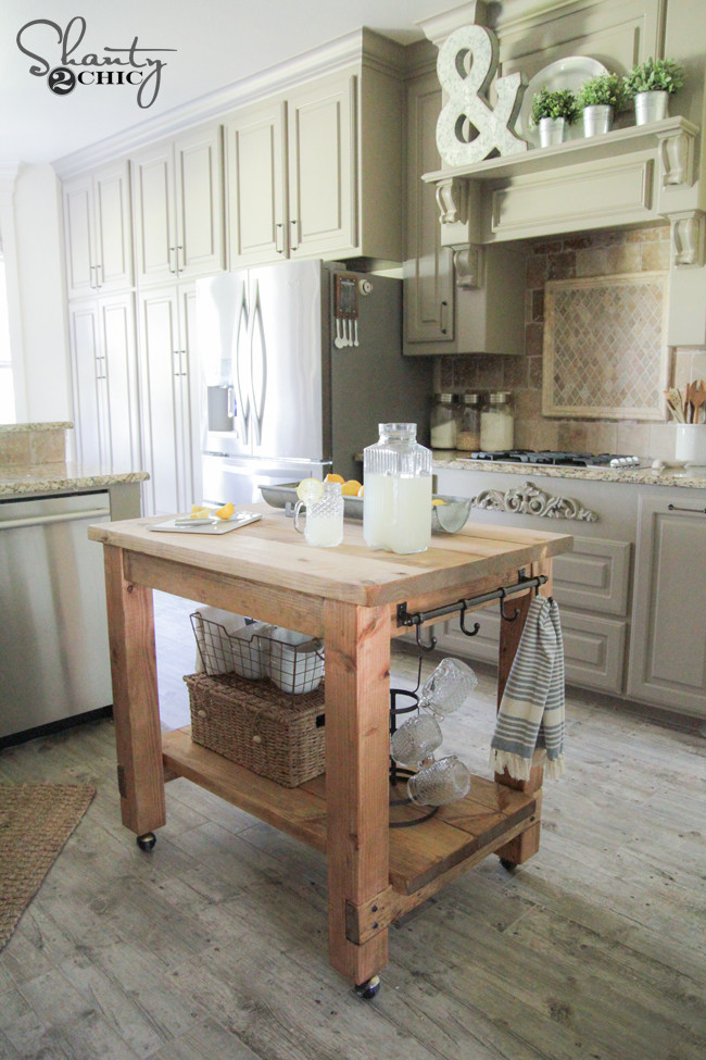 Best ideas about DIY Small Kitchen Island . Save or Pin DIY Kitchen Island FREE Plans Now.