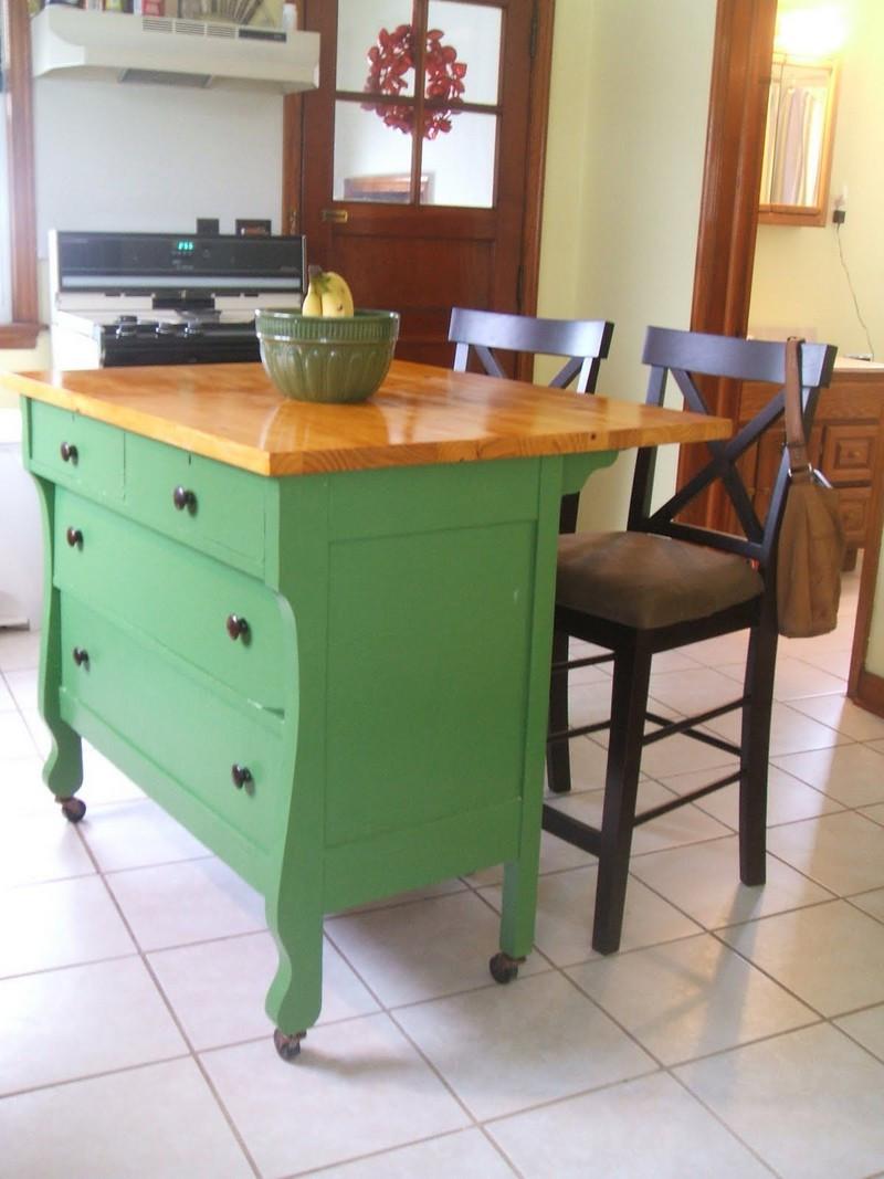 Best ideas about DIY Small Kitchen Island . Save or Pin DIY Dresser Kitchen Island Now.