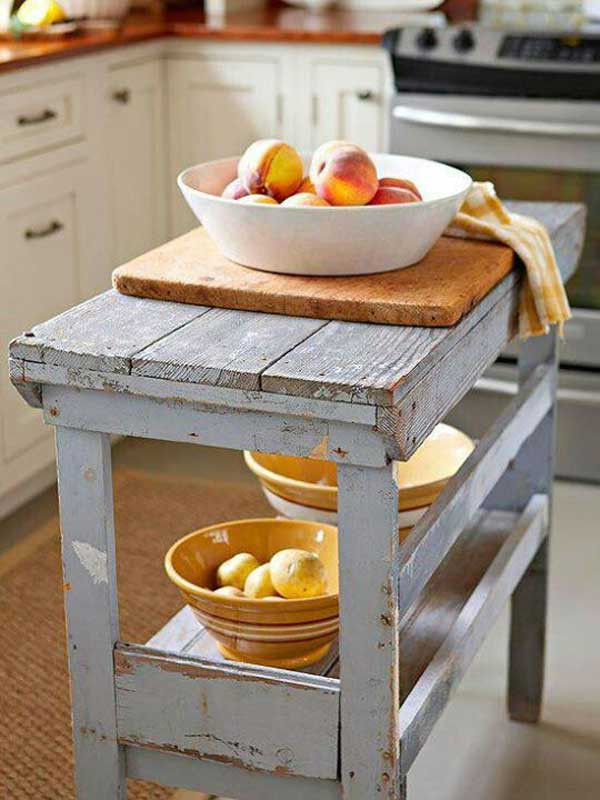 Best ideas about DIY Small Kitchen Island . Save or Pin 32 Simple Rustic Homemade Kitchen Islands Now.