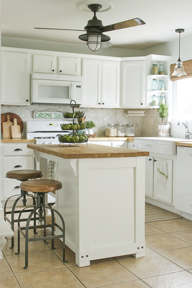 Best ideas about DIY Small Kitchen Island . Save or Pin DIY Kitchen Island with Trash Storage Shades of Blue Now.