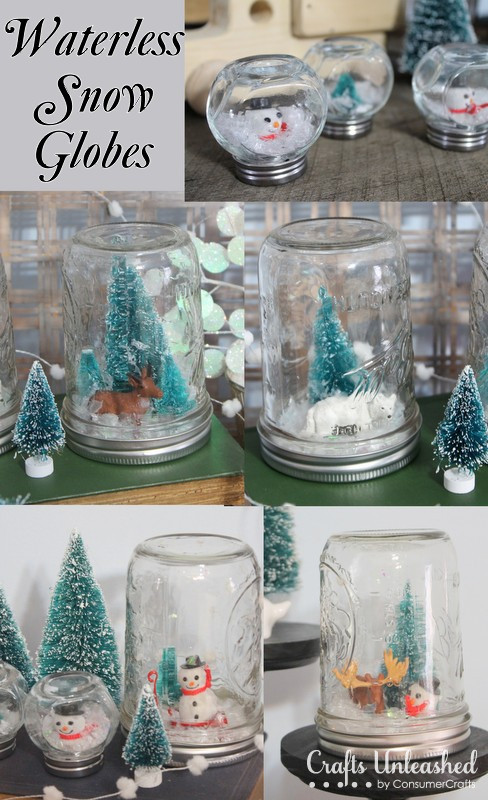Best ideas about DIY Snow Globes . Save or Pin Waterless Homemade Snow Globes Now.