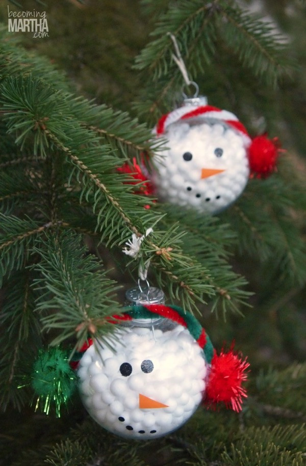Best ideas about DIY Snowman Ornaments . Save or Pin 13 Handmade Christmas Ornaments Using Vinyl Now.