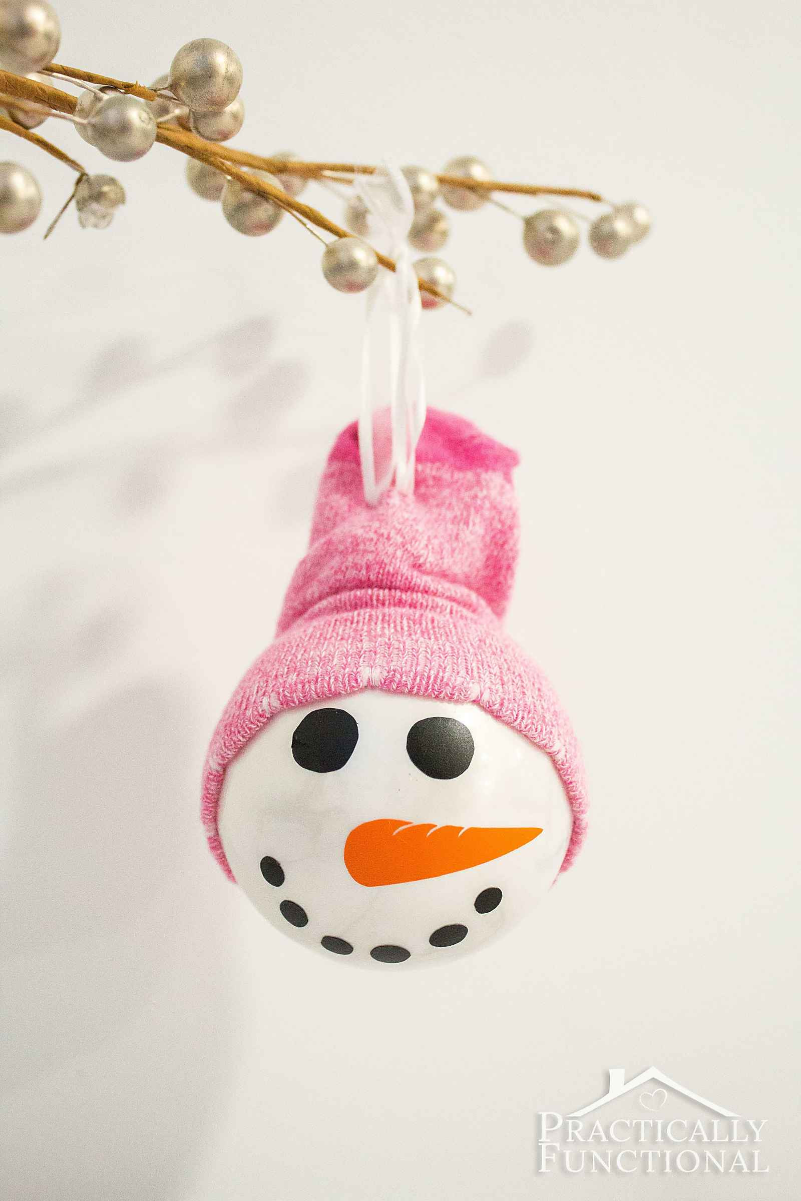 Best ideas about DIY Snowman Ornaments . Save or Pin DIY Snowman Ornament With A Sock Hat Now.