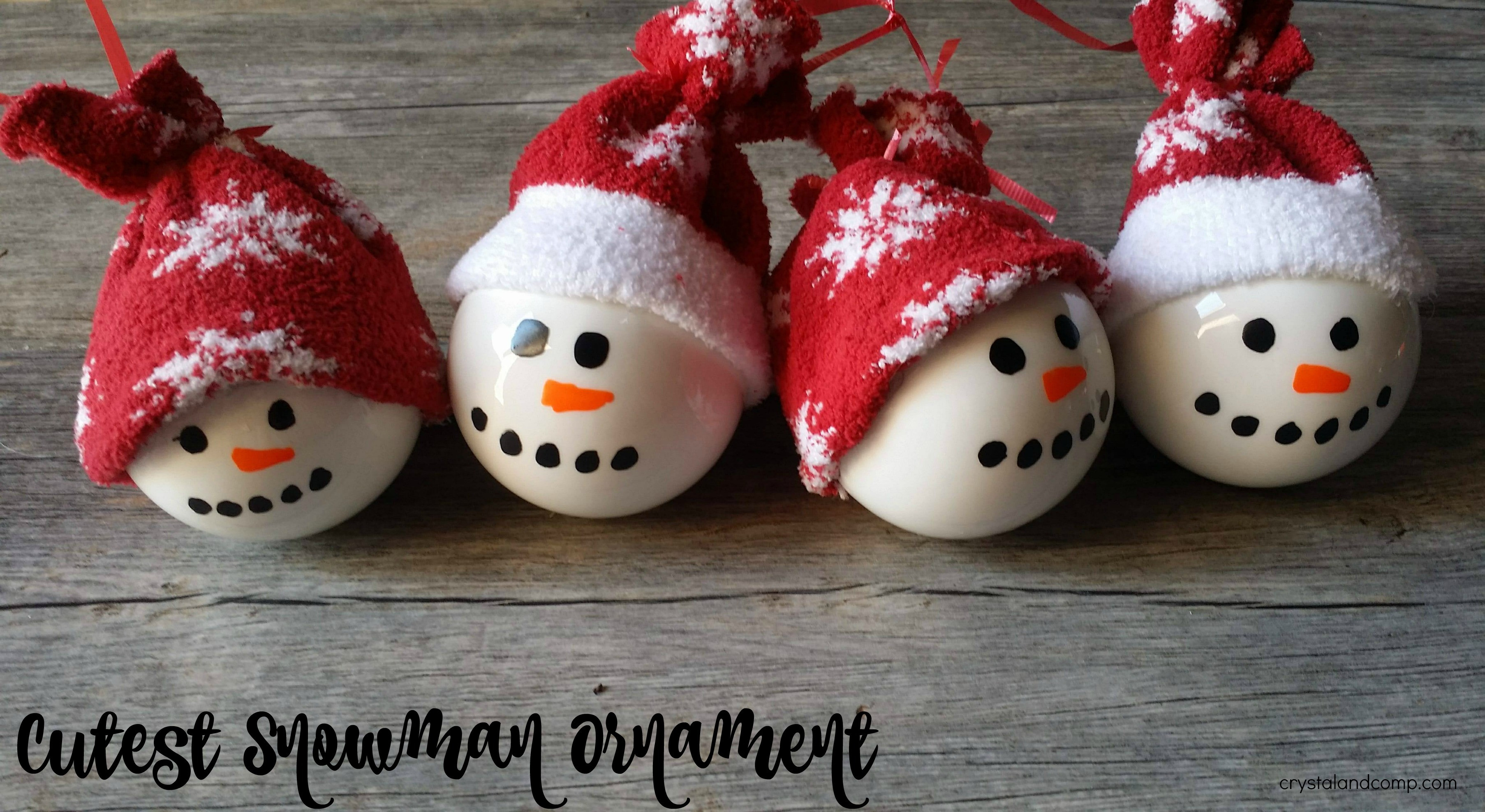Best ideas about DIY Snowman Ornaments . Save or Pin Homemade Snowman Ornament Now.