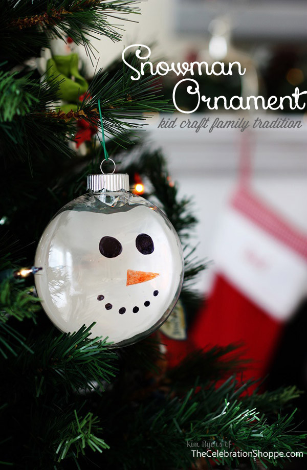 Best ideas about DIY Snowman Ornaments . Save or Pin DIY Christmas Ornament Paint Dipped Snowman • The Now.