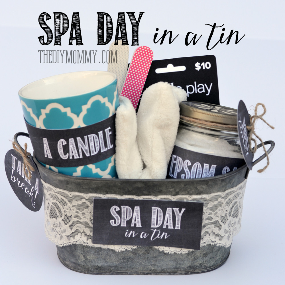 Best ideas about DIY Spa Gift Baskets . Save or Pin A Gift in a Tin Spa Day in a Tin Now.