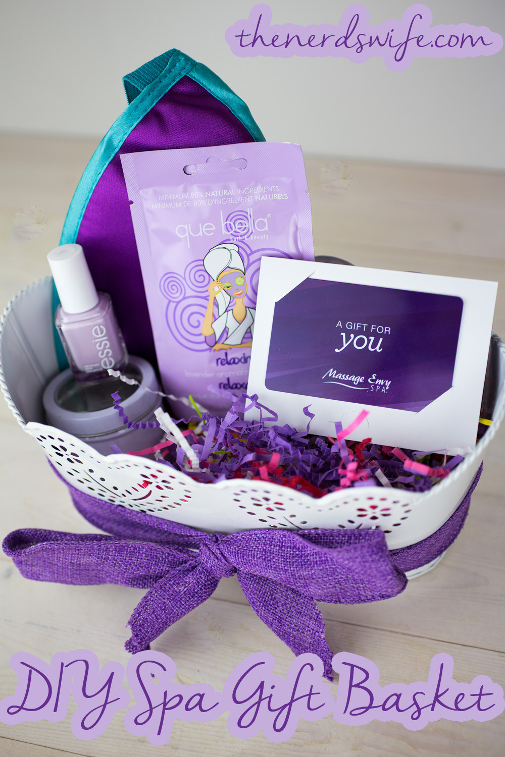 Best ideas about DIY Spa Gift Baskets . Save or Pin DIY Spa Gift Basket The Nerd s Wife Now.