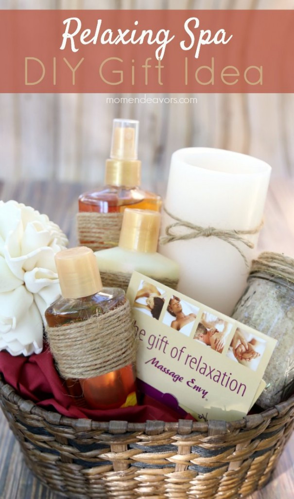 Best ideas about DIY Spa Gift Baskets . Save or Pin DIY Relaxing Spa Gift Idea Now.