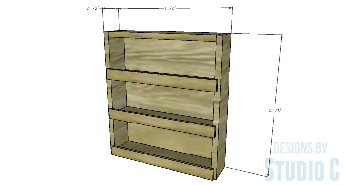 Best ideas about DIY Spice Rack Plans . Save or Pin DIY Furniture Plans to Build a Mini Spice Rack Now.
