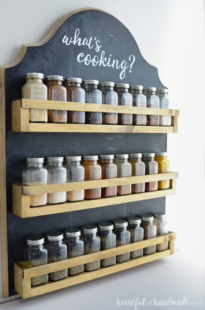 Best ideas about DIY Spice Rack Plans . Save or Pin Wooden Spice Rack Build Plans a Houseful of Handmade Now.