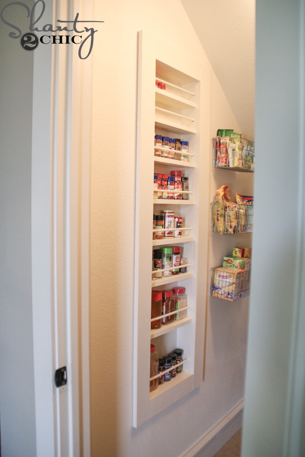 Best ideas about DIY Spice Rack Plans . Save or Pin DIY Built in Spice Rack Free Plans and Tutorial Shanty Now.