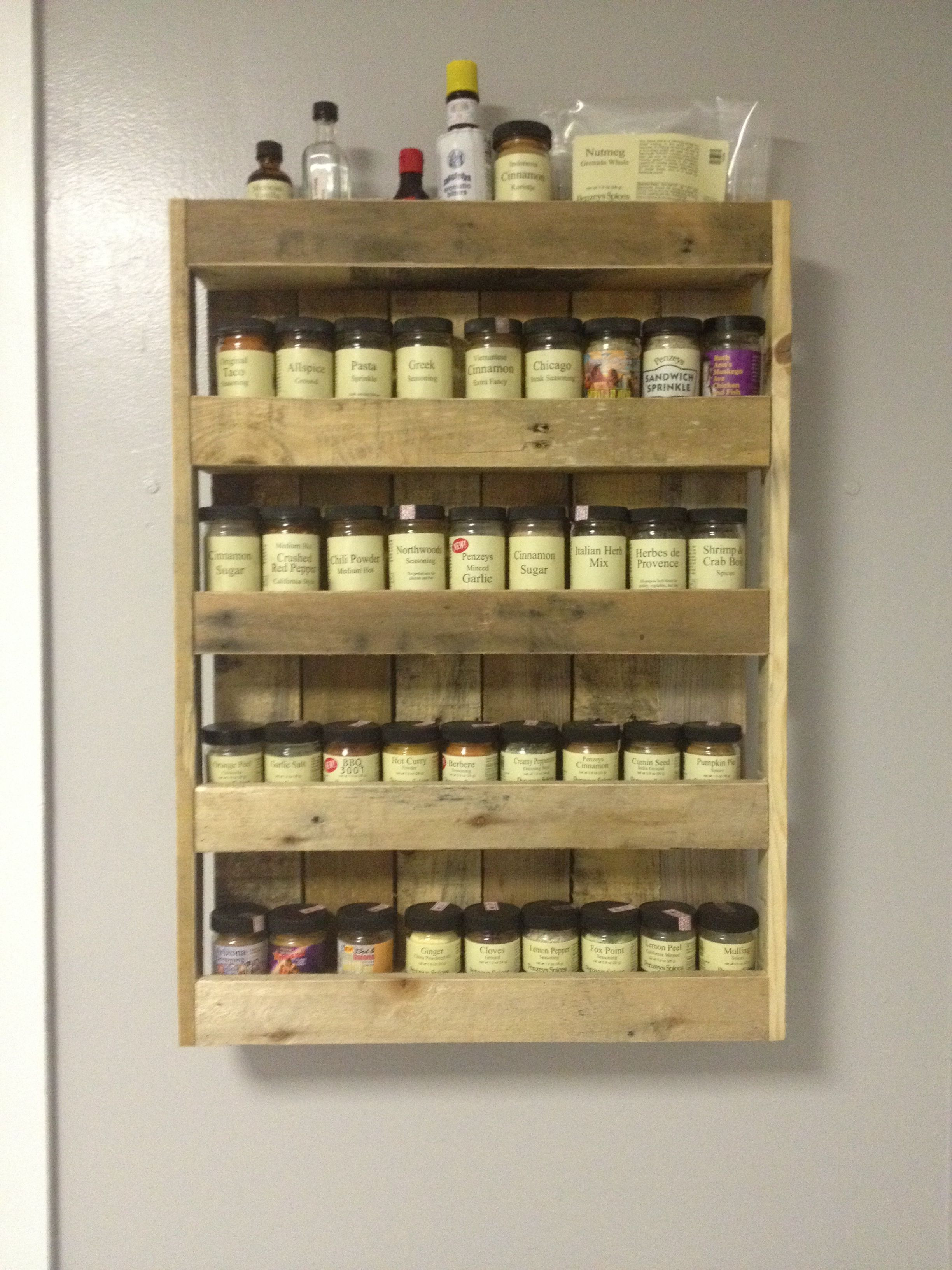 Best ideas about DIY Spice Rack Plans . Save or Pin Spice rack made from pallets Pallet ideas Now.