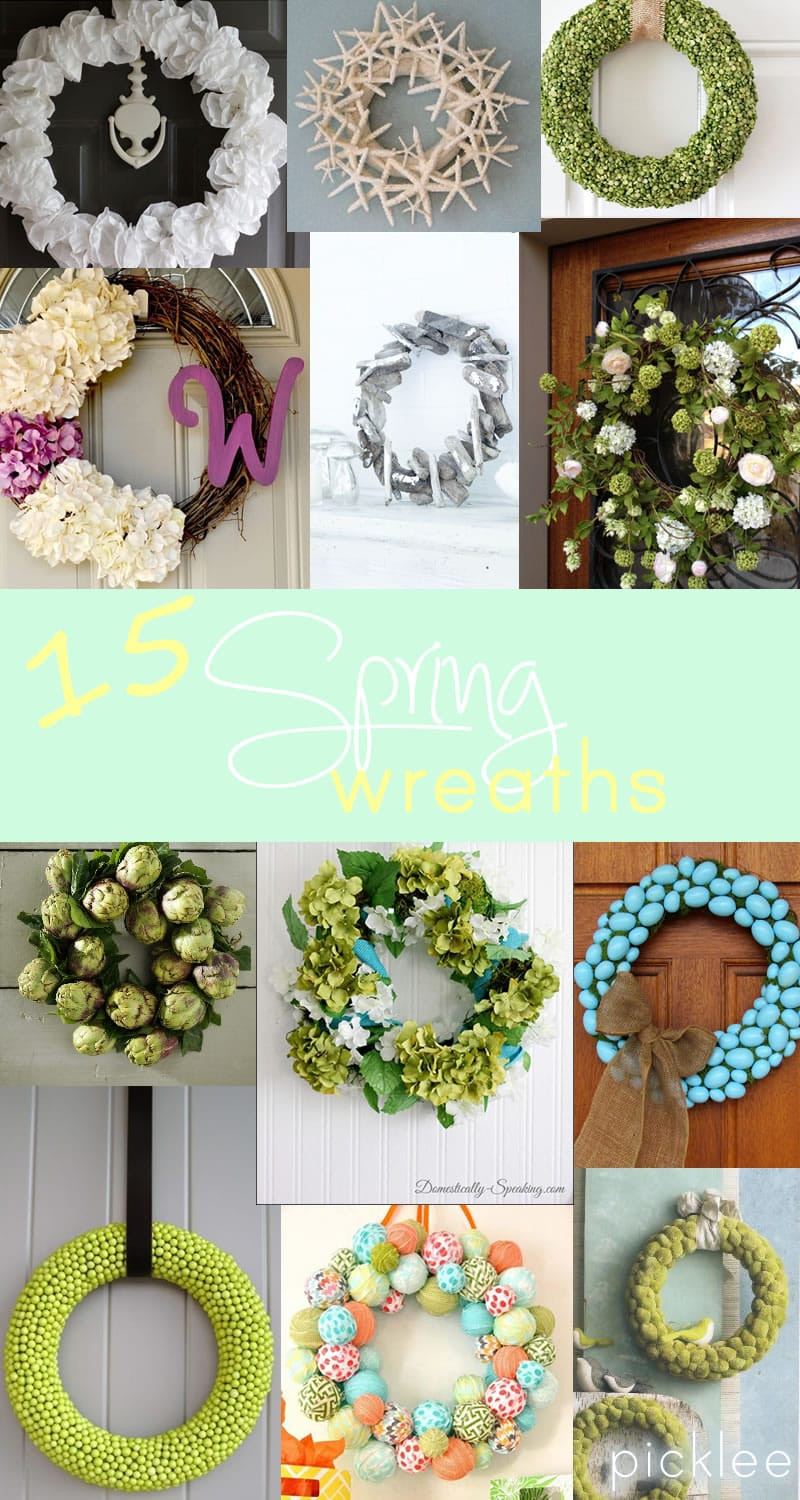 Best ideas about DIY Spring Wreath . Save or Pin 15 DIY Spring Wreaths [inspiration] Picklee Now.