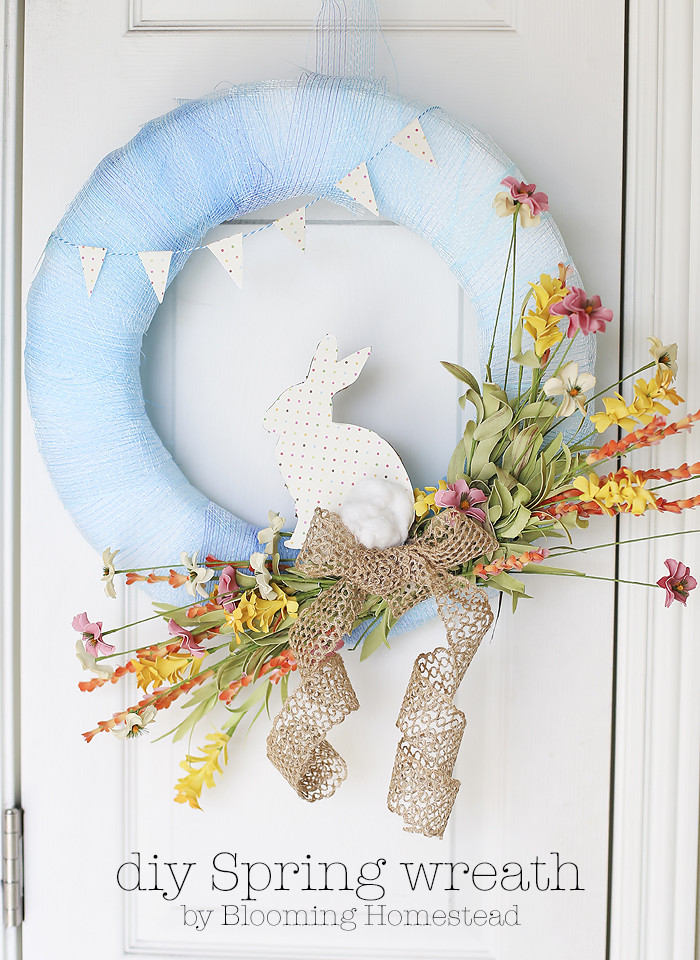 Best ideas about DIY Spring Wreath . Save or Pin DIY Spring Wreath Blooming Homestead Now.