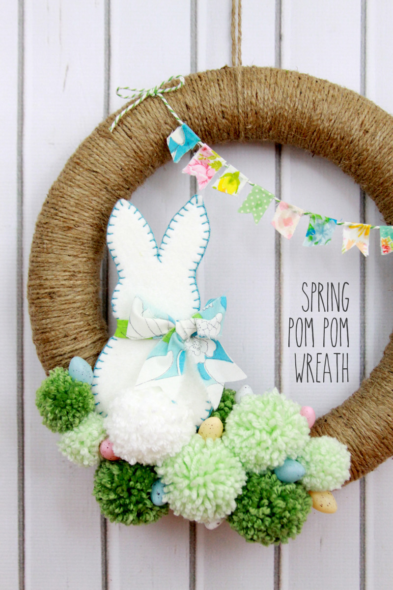 Best ideas about DIY Spring Wreath . Save or Pin Spring Pom Pom Wreath Now.