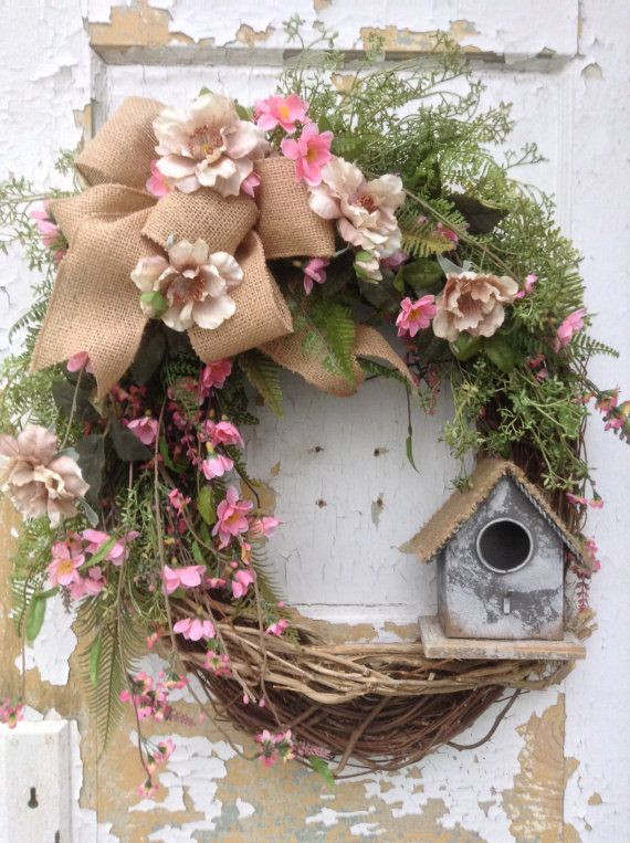 Best ideas about DIY Spring Wreath . Save or Pin Spring Wreath Easter Wreath Summer Wreath Front Door Now.