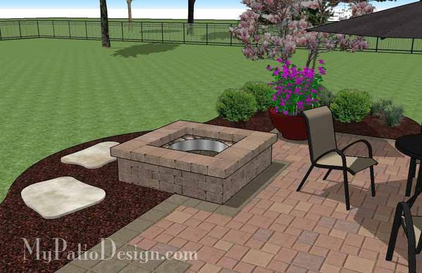 Best ideas about DIY Square Fire Pit . Save or Pin DIY Square Patio Design with Fire Pit Now.