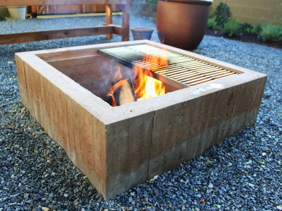 Best ideas about DIY Square Fire Pit . Save or Pin square concrete fire pit Google Search Now.