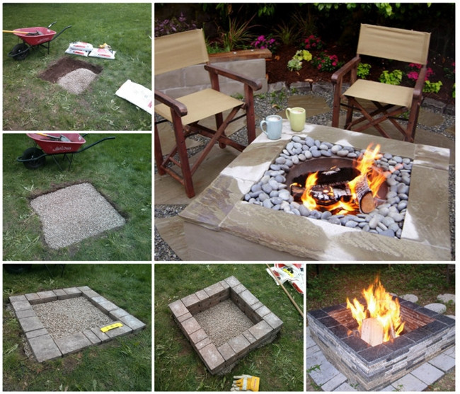 Best ideas about DIY Square Fire Pit . Save or Pin Wonderful DIY Glowing in the Dark Log Campfire Stools Now.