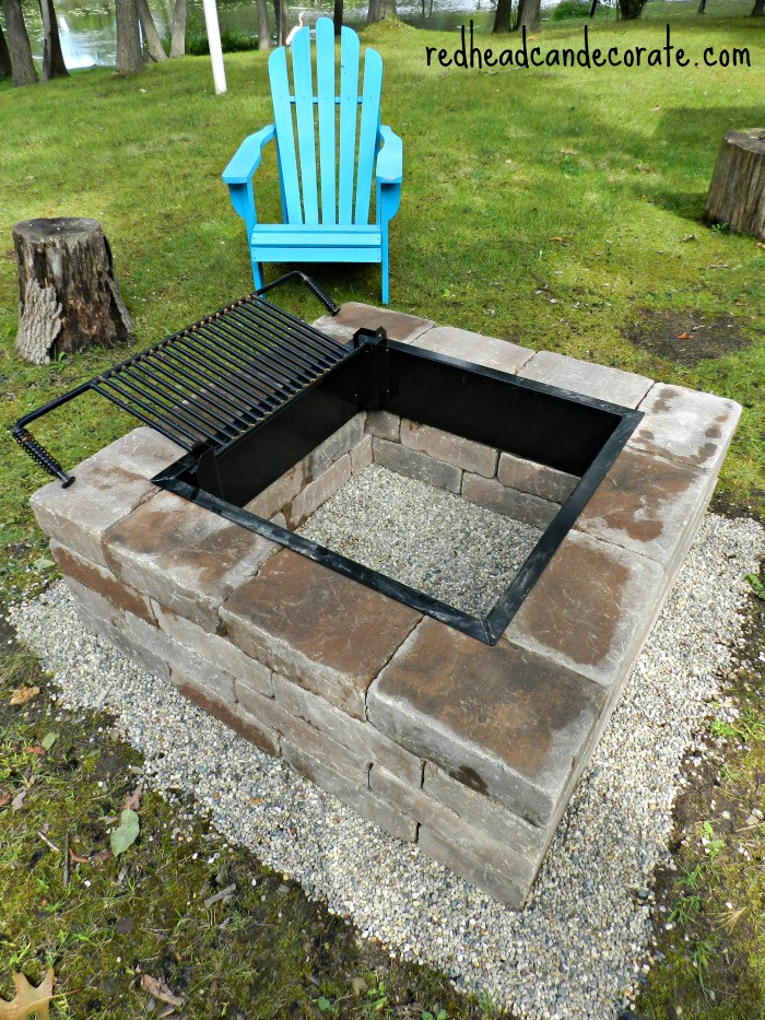 Best ideas about DIY Square Fire Pit . Save or Pin Easy DIY Fire Pit Kit with Grill Redhead Can Decorate Now.