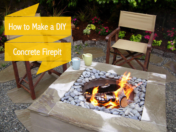 Best ideas about DIY Square Fire Pit . Save or Pin How to Make a Concrete Fire Pit or Fire Bowl in 5 Easy Now.