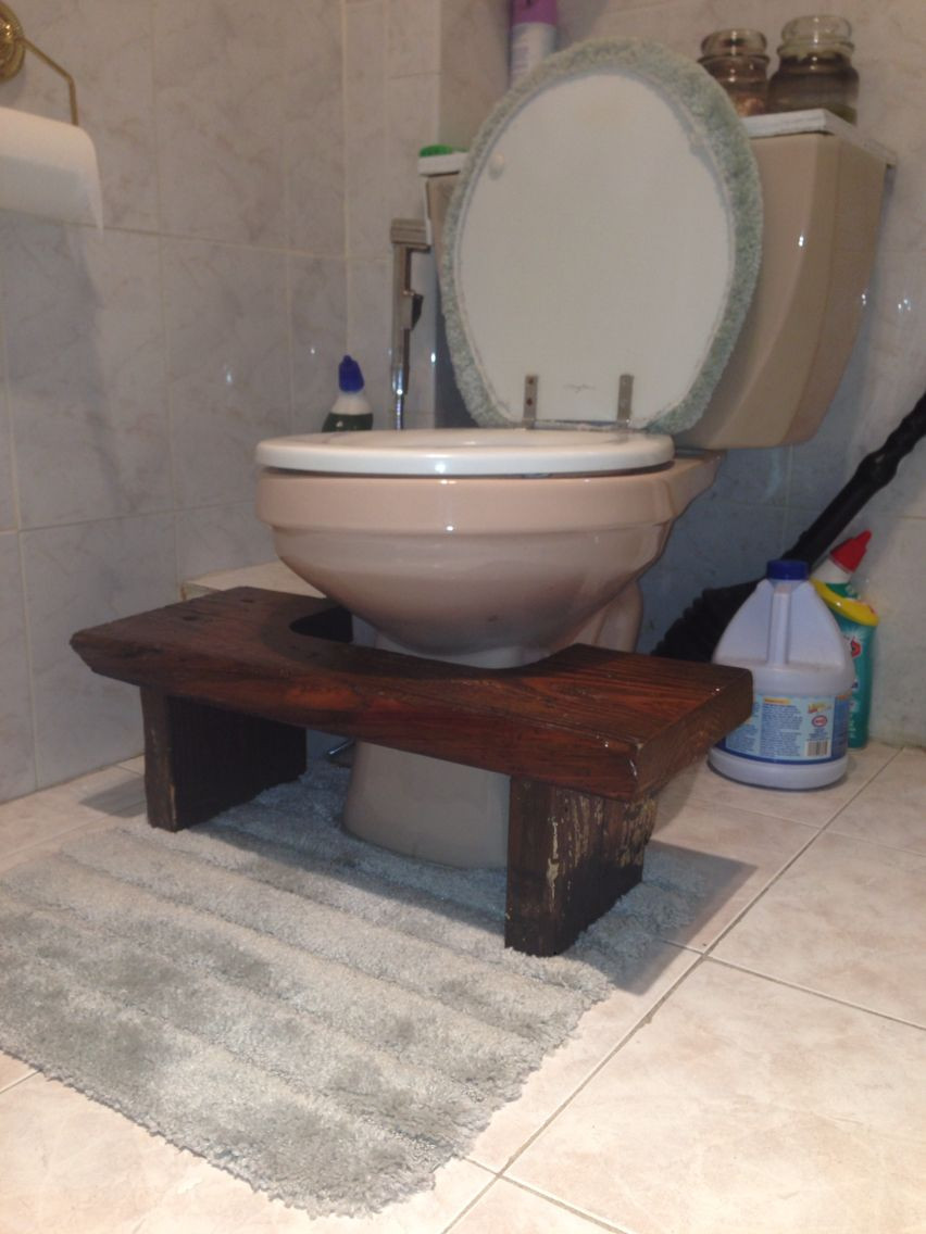 Best ideas about DIY Squatty Potty . Save or Pin Diy Squatty Potty made from old basement steps Now.